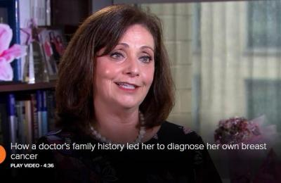 How a doctor's family history led her to diagnose her own breast cancer